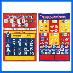 러닝리소스[EDUS0011] 기초 수학 포켓차트 세트(수세기, 분류하기-영어 어휘 학습)/ 수학교구